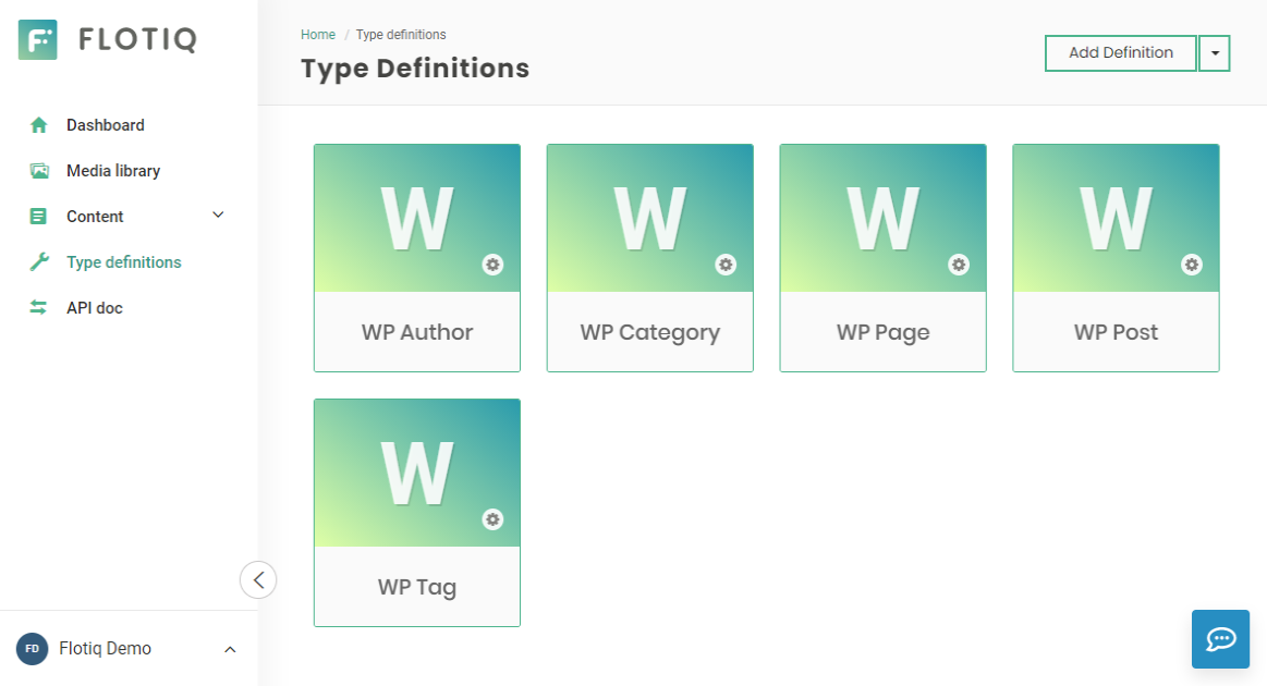 New, WordPress-like Content Type Definitions in your Flotiq Account