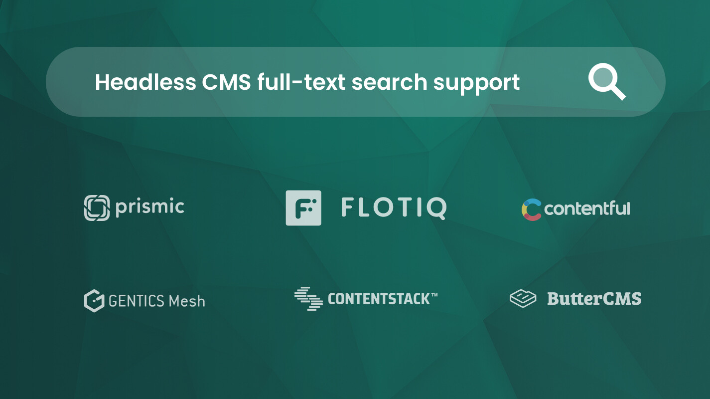 Headless CMS Search comparison