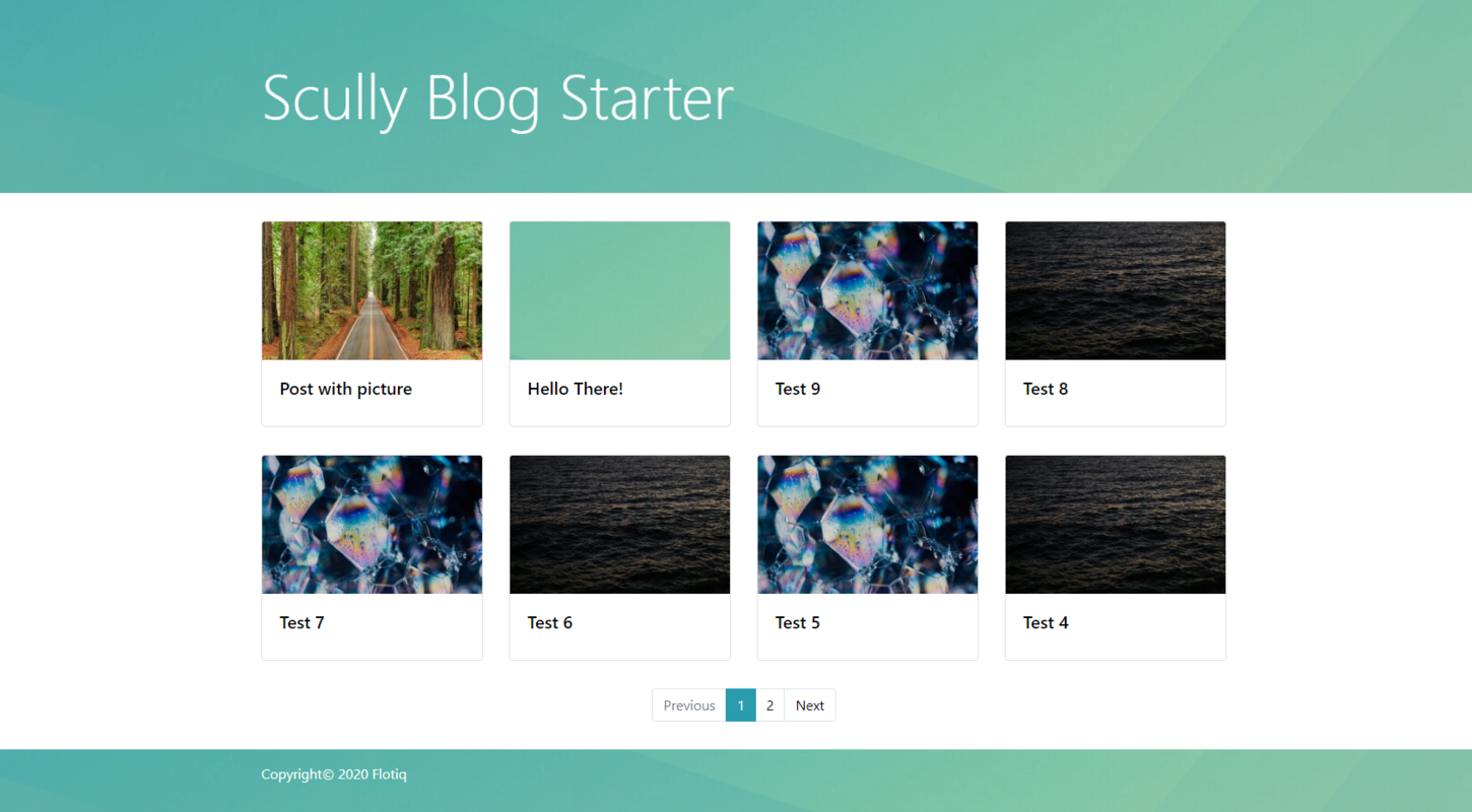 Angular blog starter with Scully