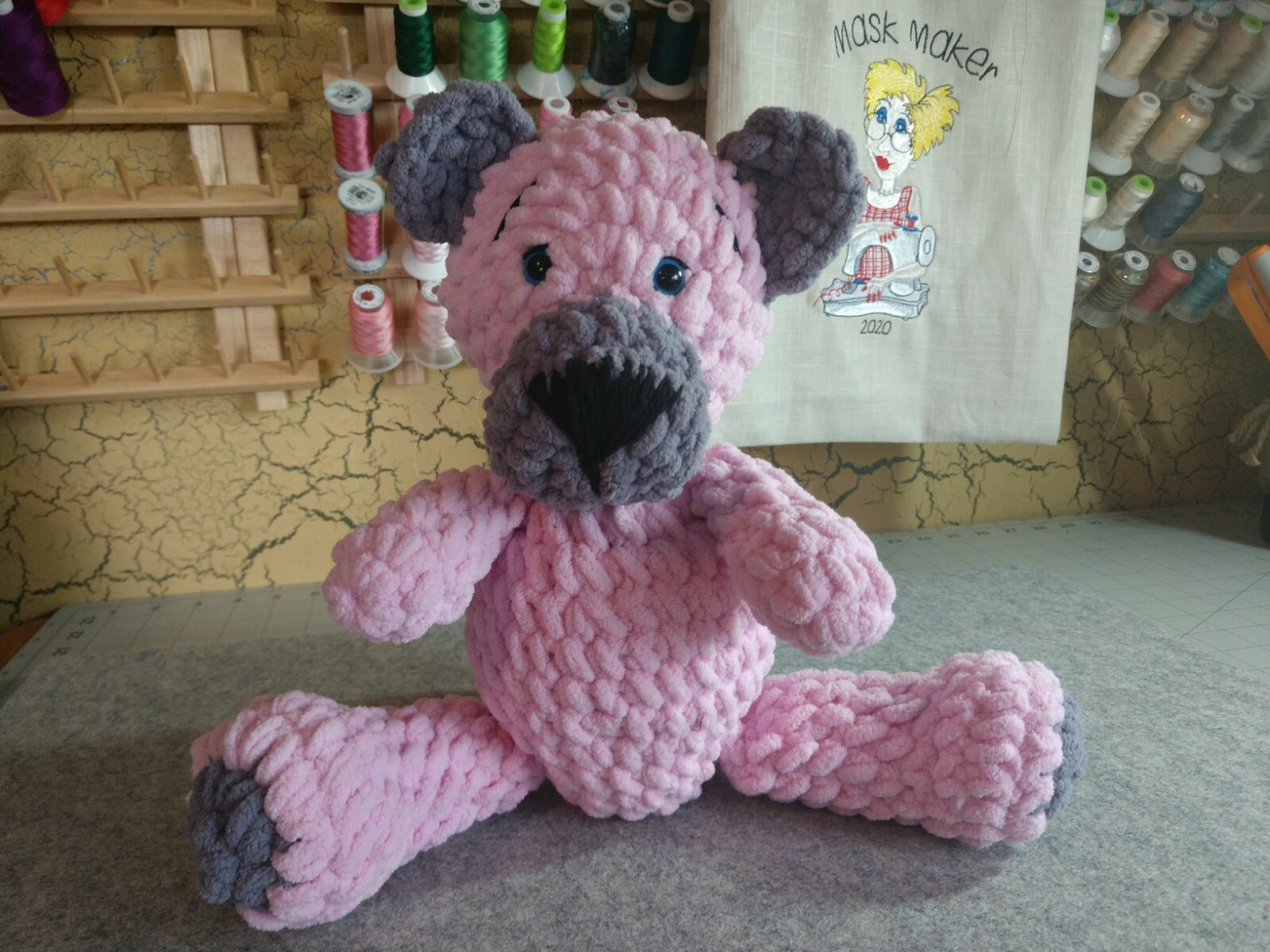 Soft Pink Dog
