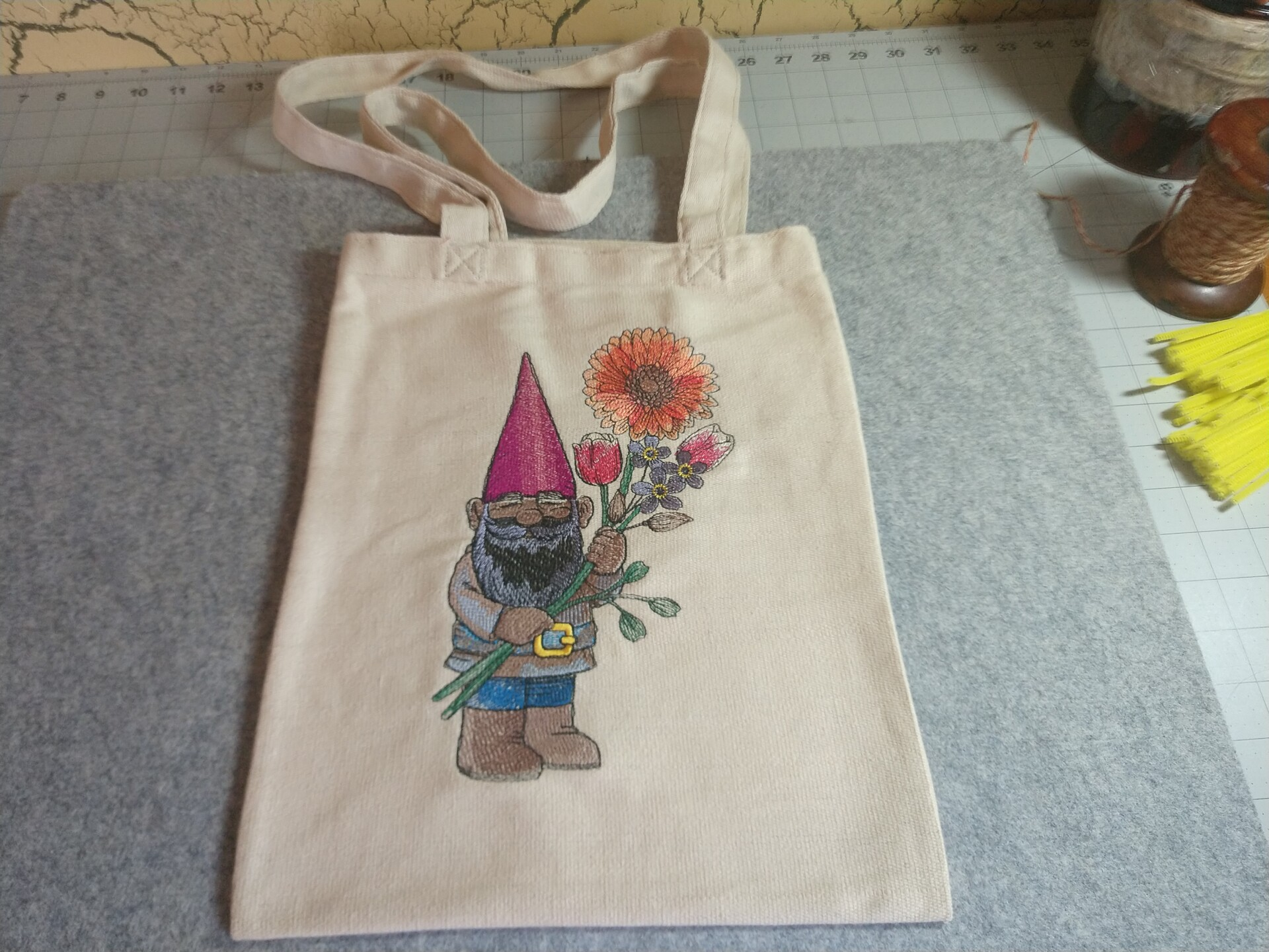 Gnome with Flowers