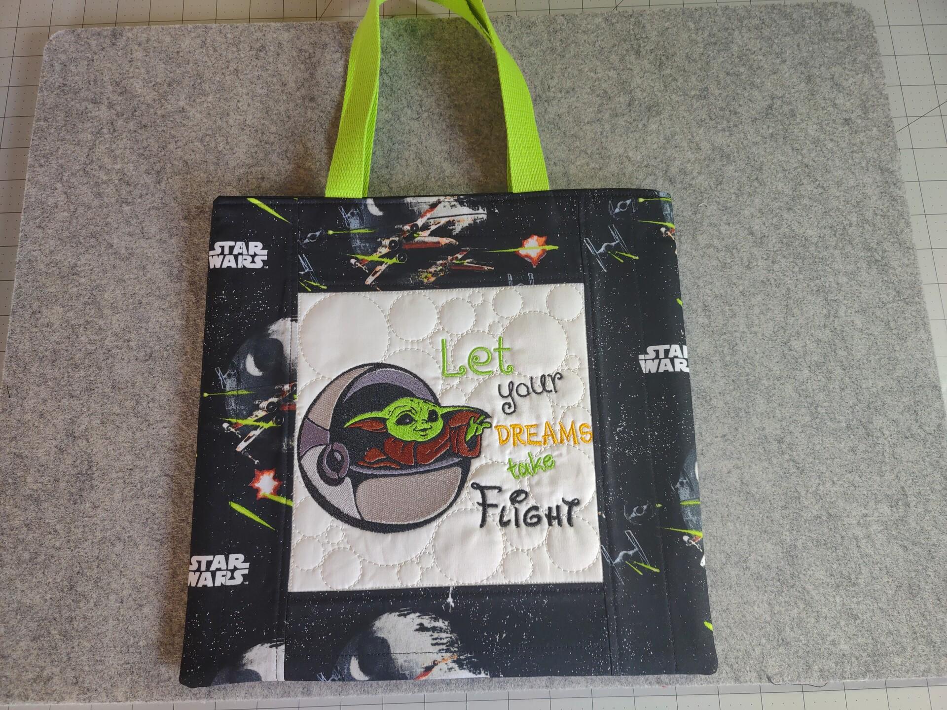 Baby Yoda Takes Flight