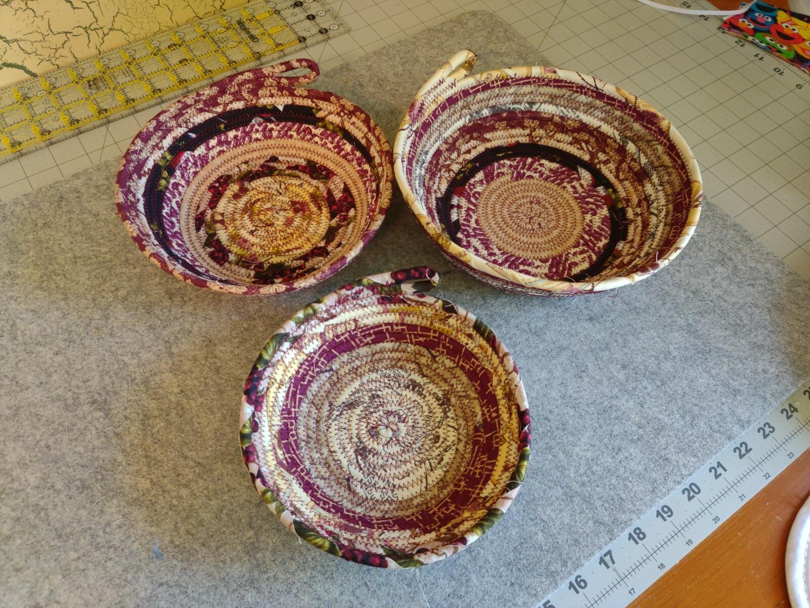 Burgundy Nesting Baskets