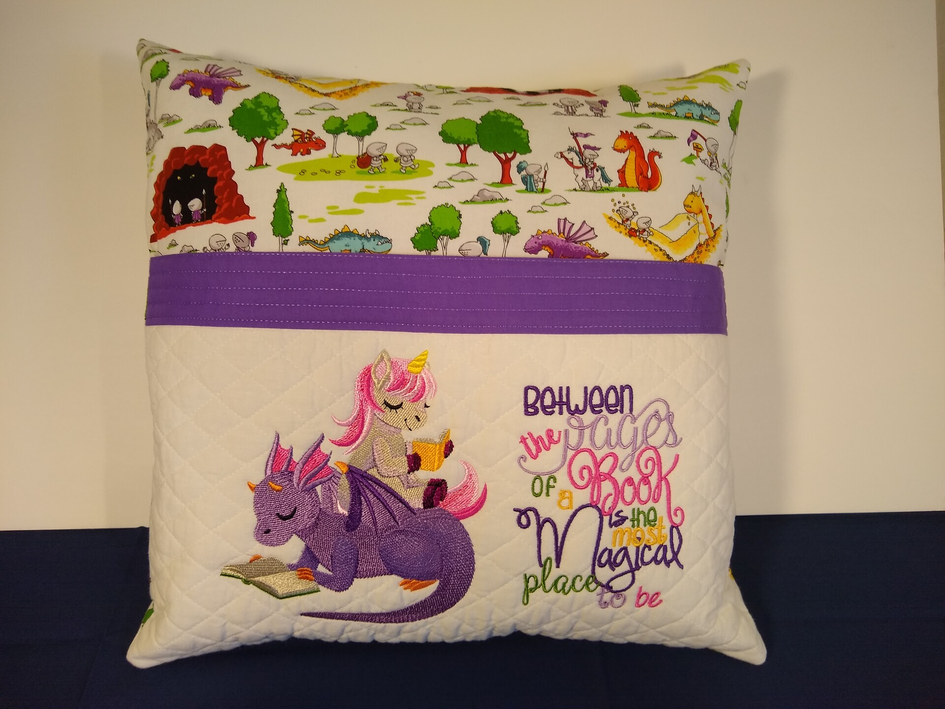 Dragon and Unicorn Pillow