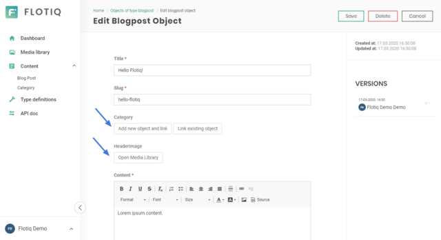 Content editor now supports creating related objects while editing parent